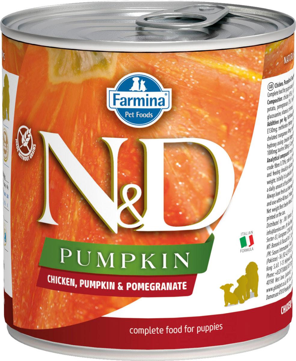 Farmina Dog N&d Puppy Chicken, Pumpkin & Pomegranate беззерновые для щенков всех пород с курицей,тыквой и гранатом 285 гр (285 гр)