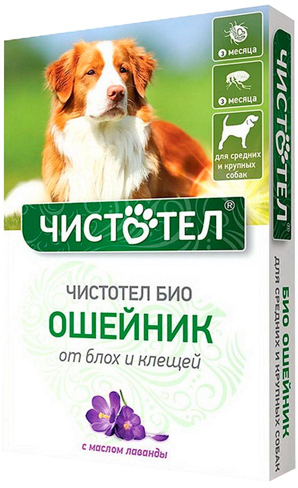 чистотел био ошейник для собак средних и крупных пород против блох и клещей с лавандой 65 см (1 шт)