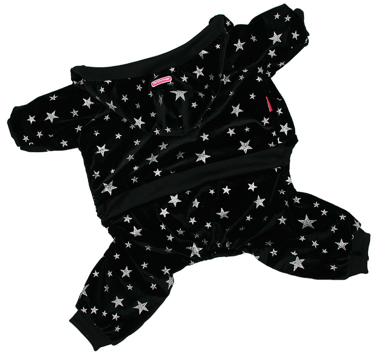 For My Dogs костюм для собак утепленный велюр черный Fw914-2020 (14)
