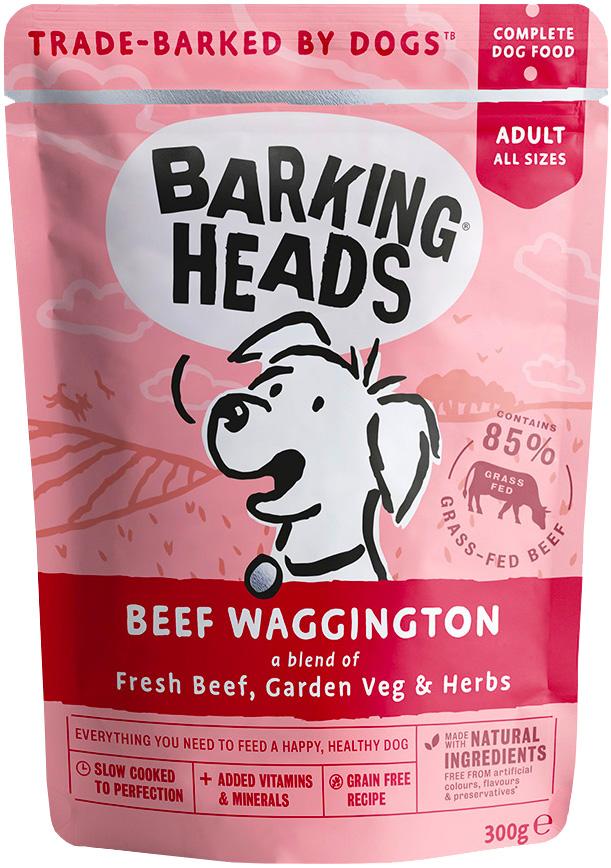 Barking Heads Вуф-строганов для взрослых собак всех пород с говядиной 300 гр (300 гр х 10 шт) фото