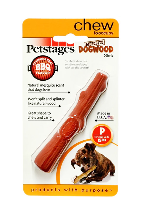Petstages игрушка для собак Mesquite Dogwood с ароматом барбекю очень маленькая 13 см (1 шт).