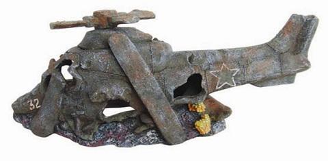 Декор грот для аквариума Вертолет, 29 х 11,5 х 13 см, Barbus, Decor 046 (1 шт) фото