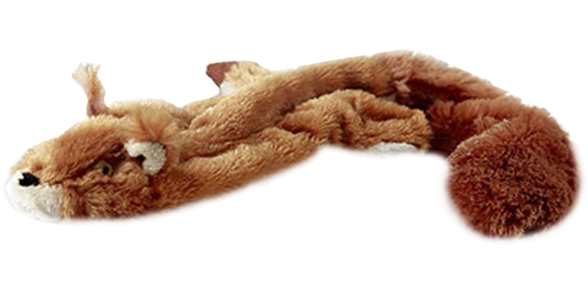 Игрушка-шкурка для собак GiGwi Белка с пищалкой 61 см (1 шт)