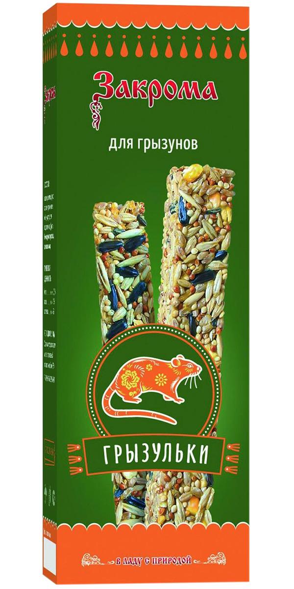 Закрома Грызульки лакомство угощение для грызунов 115 гр (1 шт).