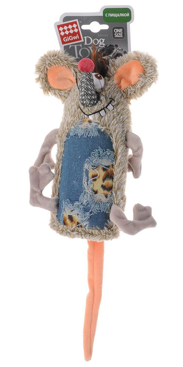 Игрушка для собак GiGwi Мышь с большой пищалкой 33 см (1 шт)