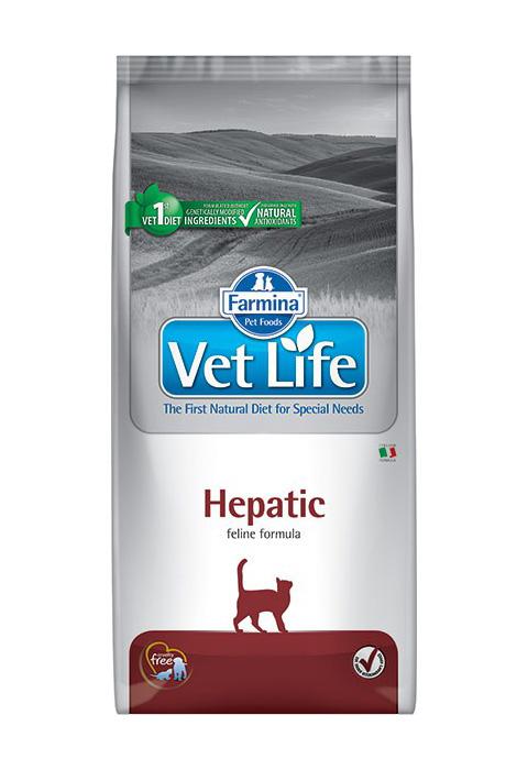 Farmina Vet Life Feline Hepatic для взрослых кошек при заболеваниях печени (0,4 кг)