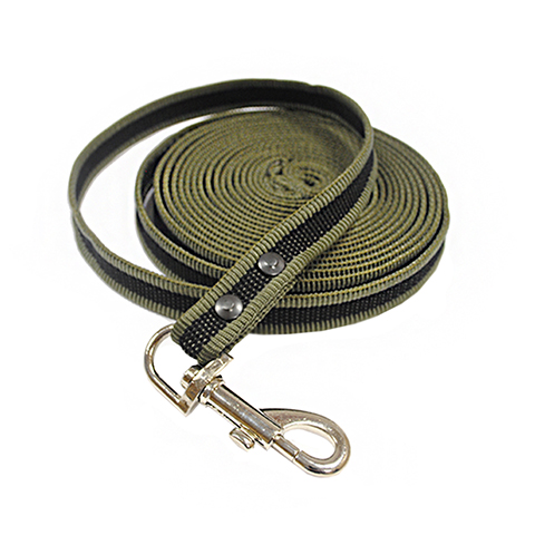 Фото - Поводок брезентовый для собак 18 мм 7 м Homepet (1 шт) поводок для собак homepet простроченный 52108 черный 1 2 м 8 мм