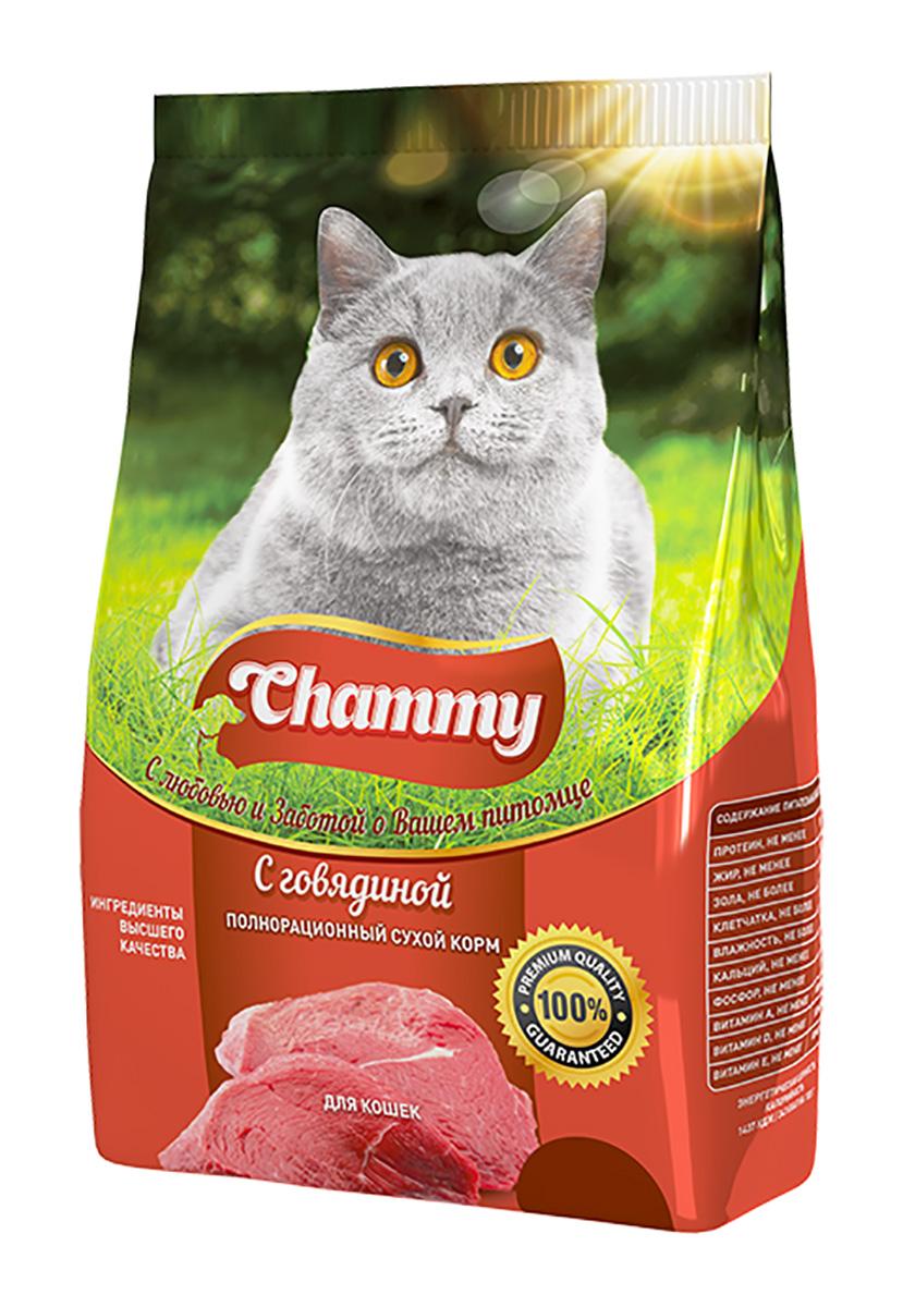 Chammy для взрослых кошек с говядиной (1,9 кг)
