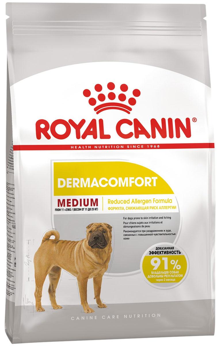 Royal Canin Medium Dermacomfort для взрослых собак средних пород при аллергии (3 кг)