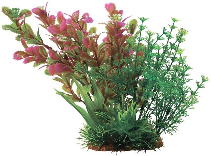 Композиция из пластиковых растений для аквариума Prime Pr-60204 20 см (1 шт) 0 pr на 100
