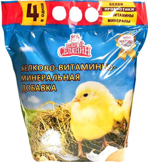 Добавка белково-витаминно-минеральная с пробиотиком для молодняка домашней птицы Добрый Селянин (1,7 кг) фото