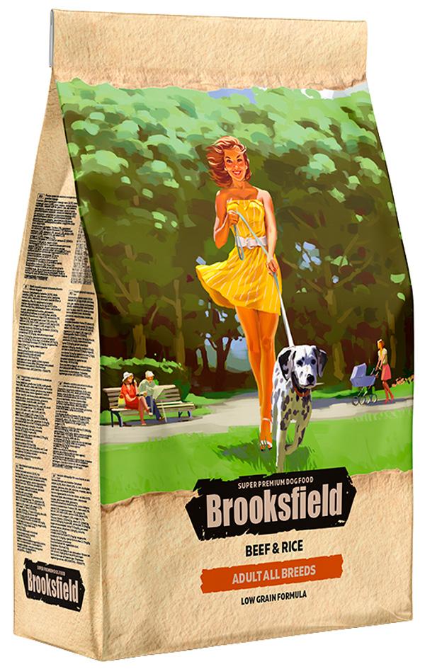 Brooksfield Adult All Breeds для взрослых собак всех пород с говядиной и рисом (12 кг) фото