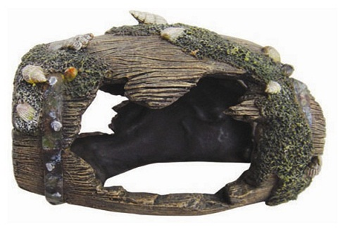 Декор грот для аквариума Бочка, 12 х 8,5 х 9 см, Barbus, Decor 054 (1 шт) настольный декор ананас зеленый 12 х 12 х 22 см