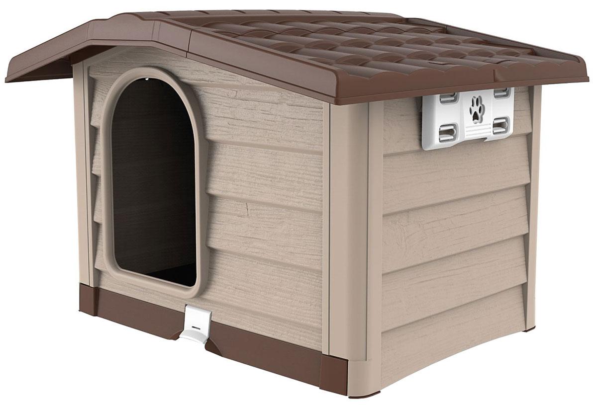 Будка для собак Bama Pet Bungalow M бежевый пластик 89 х 75 х 62 см (1 шт)