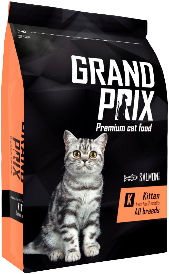 Grand Prix Kitten для котят с лососем (8 кг)