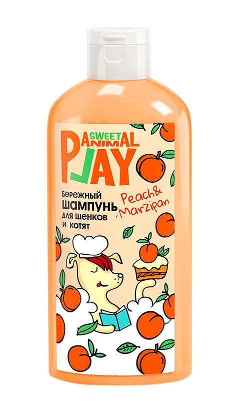 Animal Play Sweet шампунь для щенков и котят бережный Персиковый марципан (300 мл) натуральная косметика аромаджик