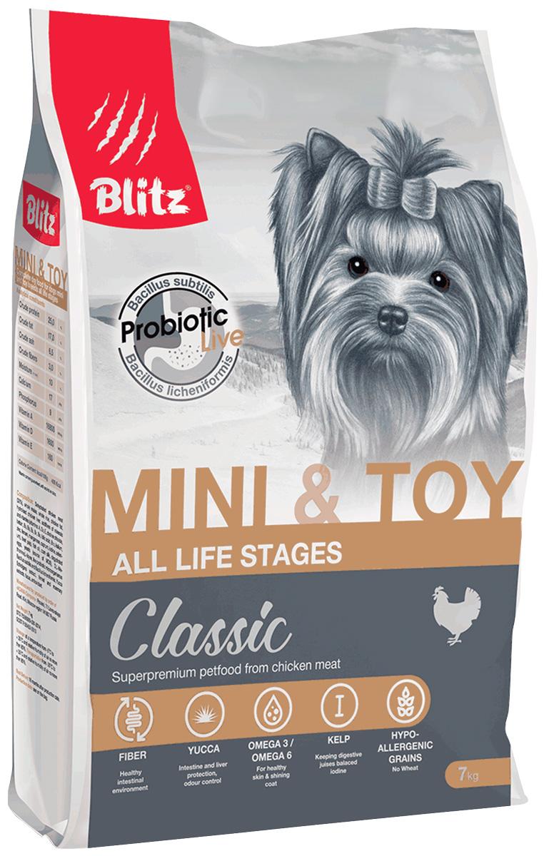 Blitz Classic Adult Mini & Toy Breeds Chicken для взрослых собак маленьких пород (2 кг) фото