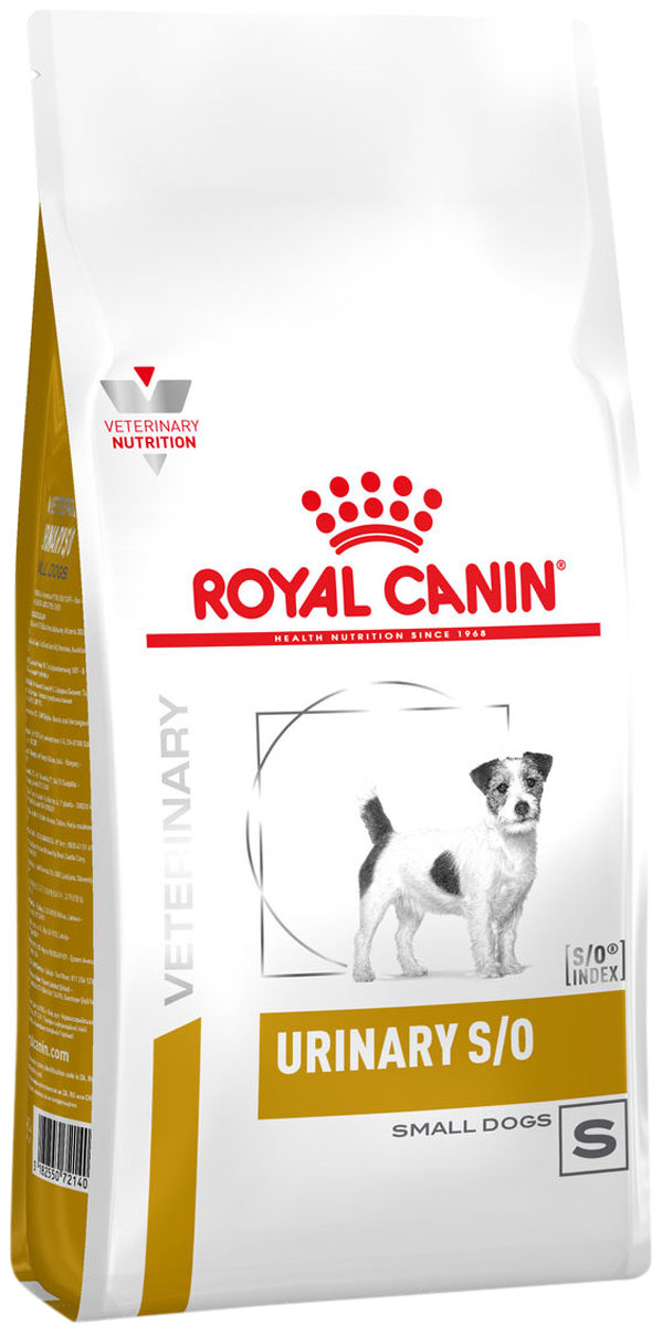 Royal Canin Urinary S/o Small Dog S для взрослых собак маленьких пород при мочекаменной болезни (струвиты, оксалаты) (1,5 кг)