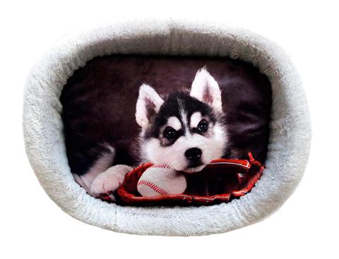 Лежак для собак PerseiLine Дизайн № 6 принт 23 овальный 67 х 49 х 16 см (1 шт)