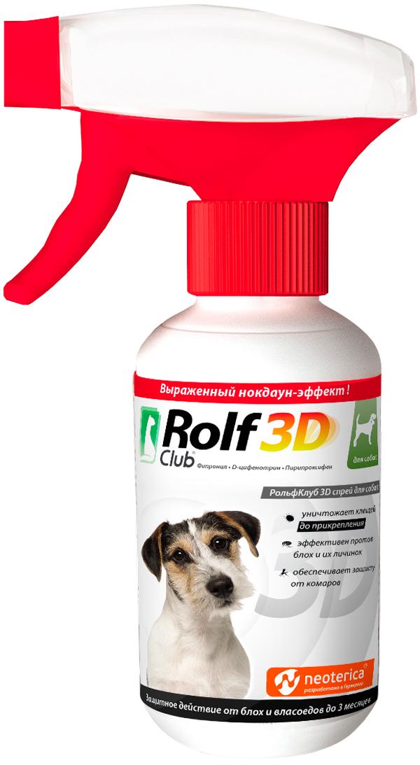 Rolf Club 3d – Ролф клуб спрей для собак против клещей и блох (200 мл)