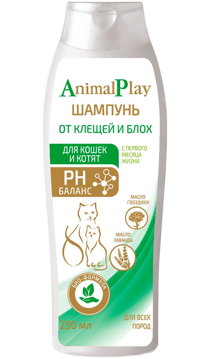 Фото - Animal Play шампунь репеллентный для кошек и котят против блох и клещей 250 мл (1 шт) veda шампунь от блох и клещей аванпост bio репеллентный для кошек и котят