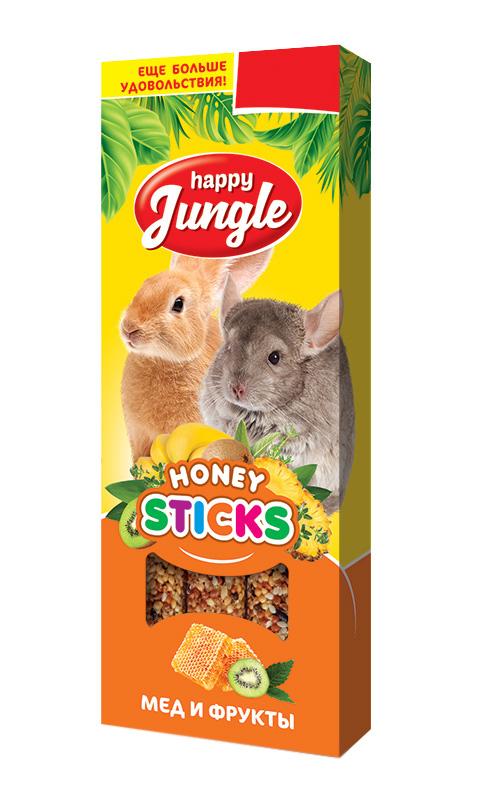 Happy Jungle палочки для крупных грызунов мед и фрукты (3 шт) цена 2017