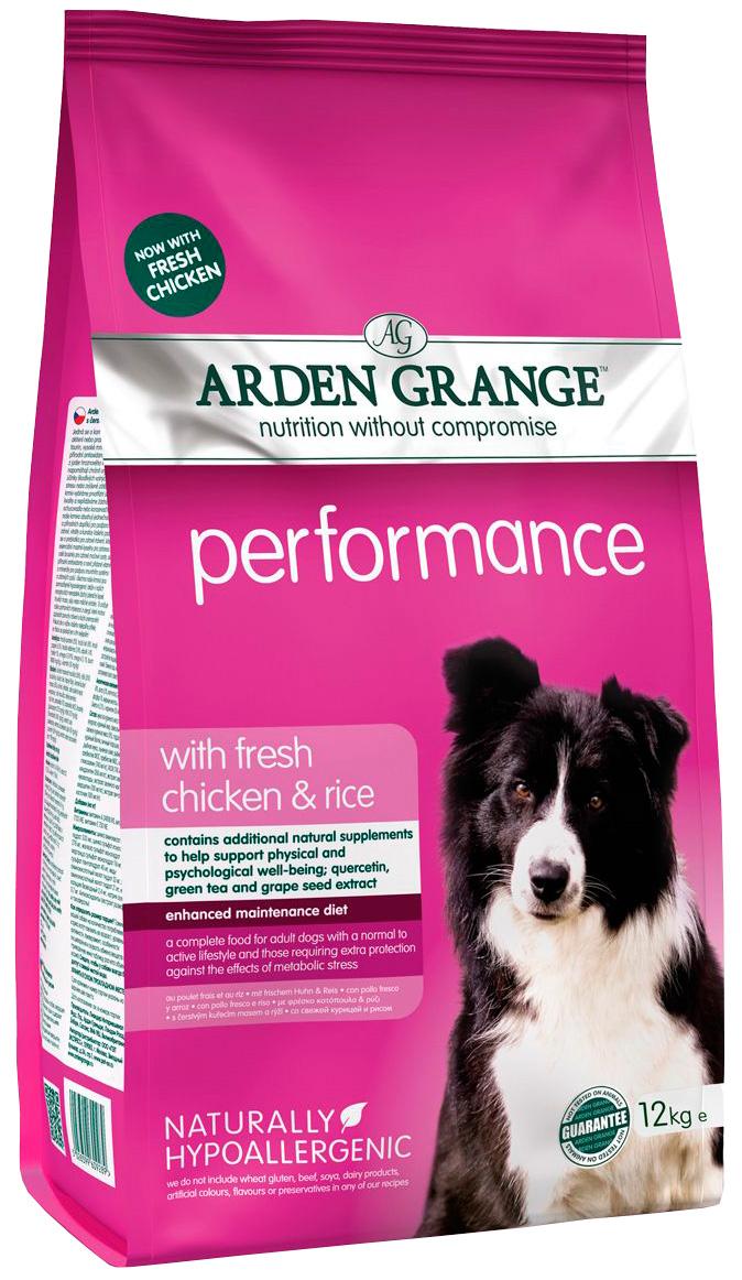 Arden Grange Performance для активных собак всех пород с курицей и рисом (12 кг).
