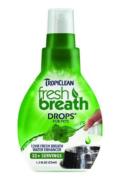 Tropiclean Fresh Breath Drops – Тропиклин Свежее дыхание капли для ухода за полостью рта (52 мл).