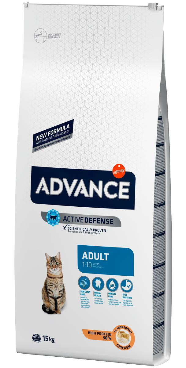 Advance Adult Chicken & Rice для взрослых кошек с курицей и рисом (1,5 + 1,5 кг)