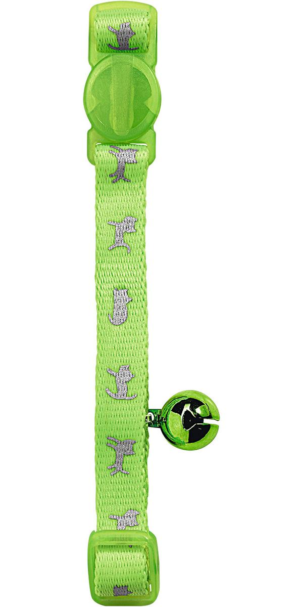 Ошейник светоотражающий для кошек Hunter Smart Neon нейлон зеленый (1 шт) фото