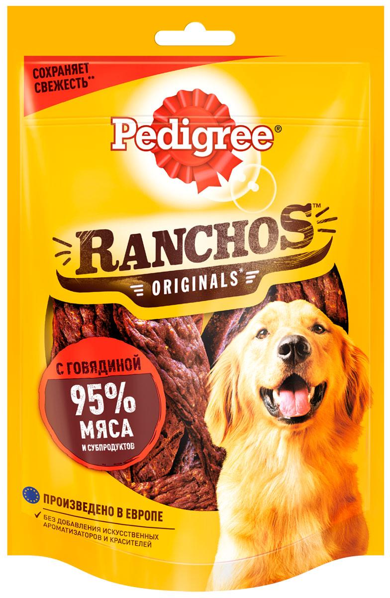Лакомство Pedigree Ranchos для собак мясные ломтики с говядиной 58 гр (1 шт)