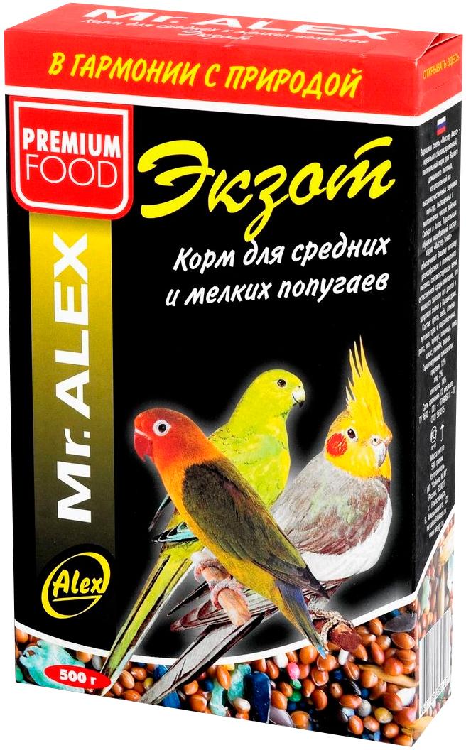 Mr.alex Экзот корм для волнистых попугаев (500 гр)