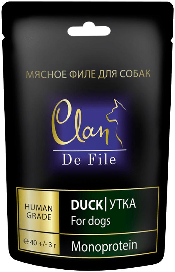 Лакомство Clan De File монобелковое для собак с уткой (40 гр)
