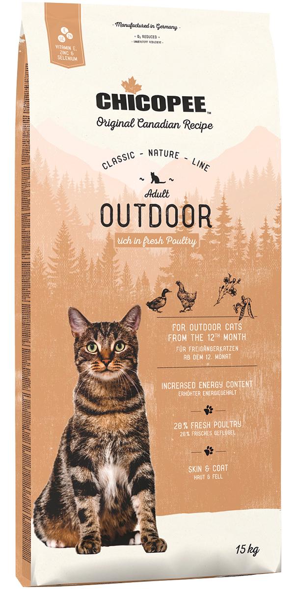 Chicopee Classic Nature Line Cat Adult Outdoor для активных взрослых кошек с птицей (1,5 кг)