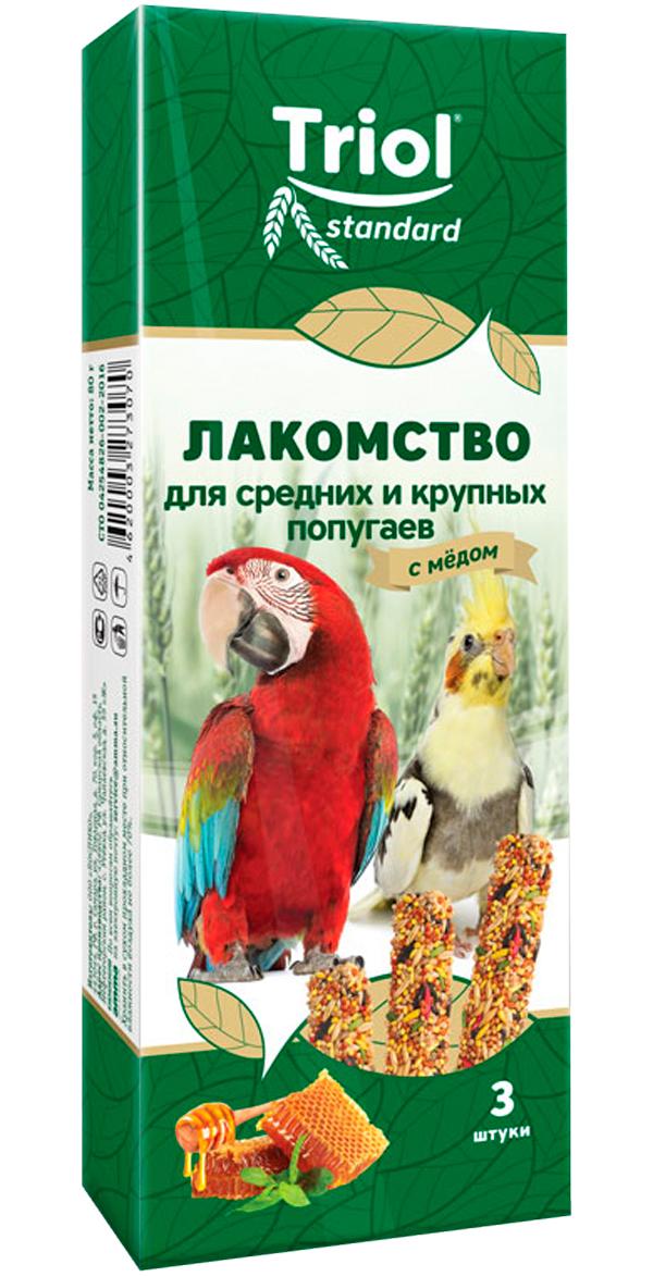 Triol Standard лакомство для средних и крупных попугаев с мёдом (3 шт)