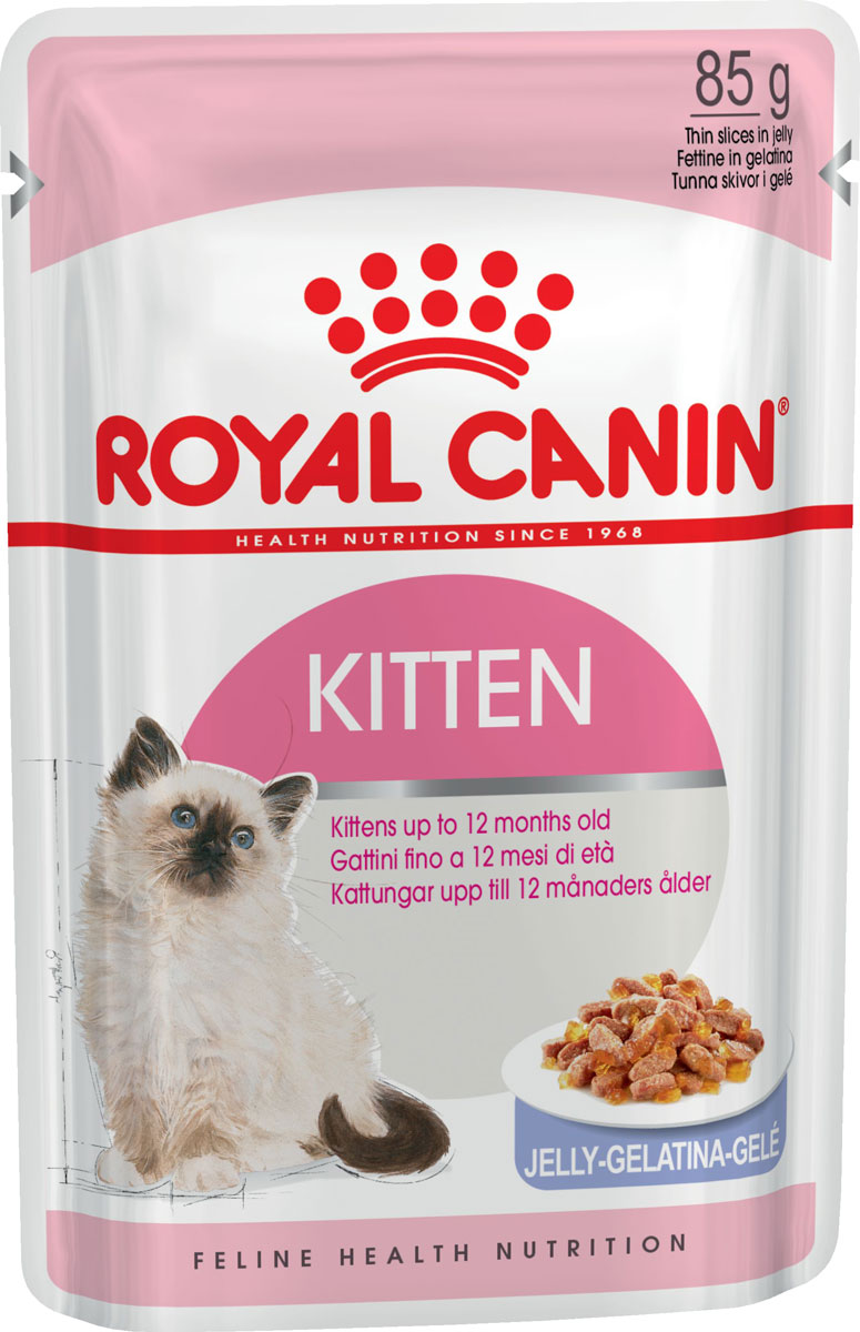 Royal Canin Kitten для котят в желе 85 гр (85 гр) cat wet food royal canin kitten sterilized kitches for kittens pieces in jelly 24 85 g