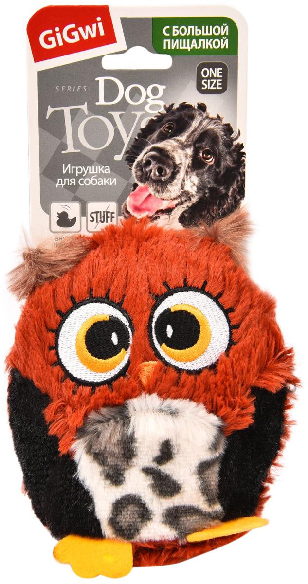Игрушка для собак GiGwi Сова с большой пищалкой 12 см (1 шт)