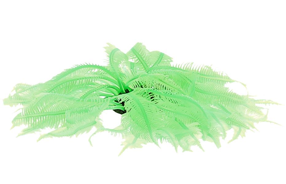 Декор для аквариума Коралл силиконовый Vitality зеленый 4,5 х 4,5 х 12 см (1 шт)