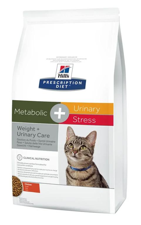 Hills Prescription Diet Metabolic + Urinary Stress для взрослых кошек снижение веса при мочекаменной болезни и стрессе цистите (1,5 кг)