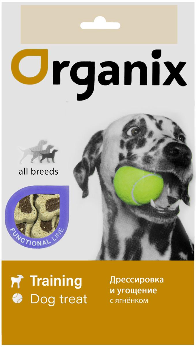 Лакомство Organix для взрослых собак всех пород для дрессировки мини косточки с ягненком 50 гр (1 шт)