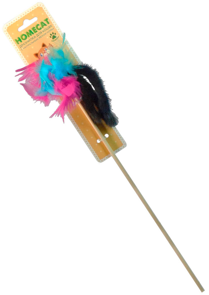 Игрушка для кошек Homecat дразнилка Пальма из норки с перьями (1 шт) пальто с мехом норки american legend