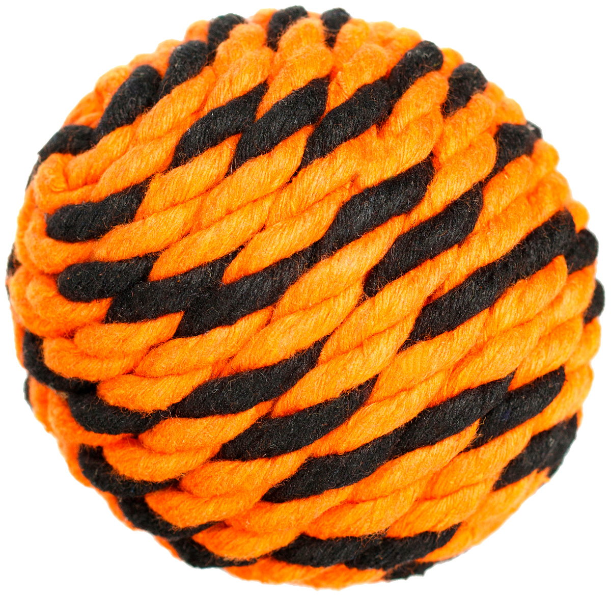 Мяч для собак Doglike Броник оранжевый/черный малый (1 шт)