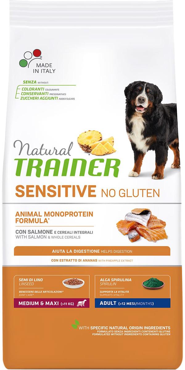 Trainer Natural Sensitive No Gluten Medium & Maxi Adult Salmon безглютеновый для взрослых собак средних и крупных пород с лососем (3 кг )