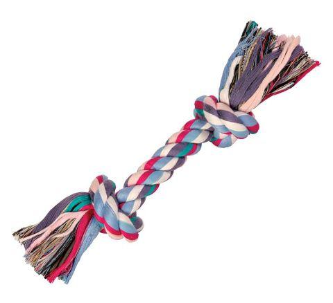 Trixie игрушка для собак «Веревка с узлом» для мелких и средних пород (20 см)