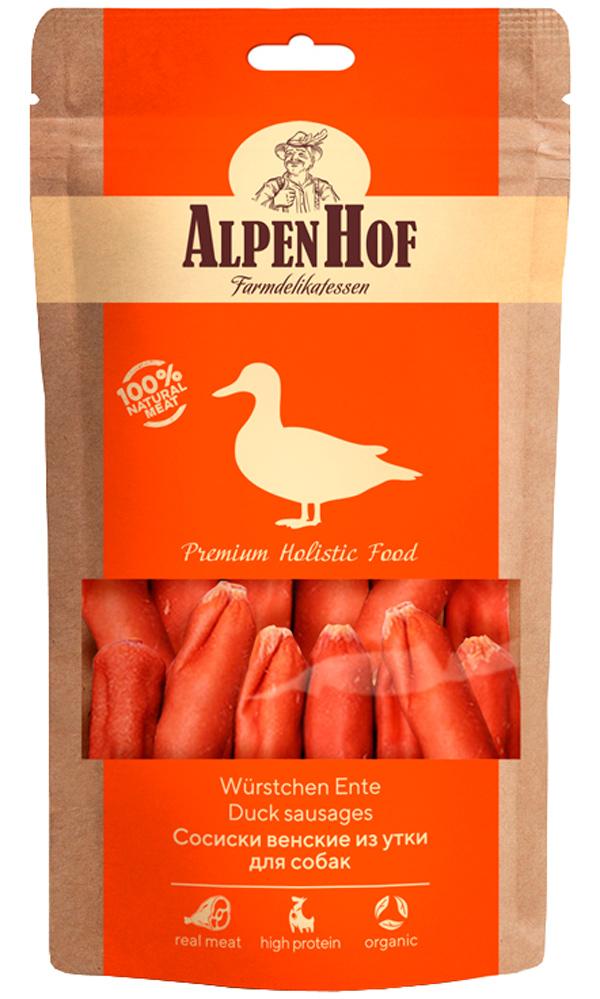 Лакомство AlpenHof для собак сосиски венские с уткой 80 гр (1 уп)
