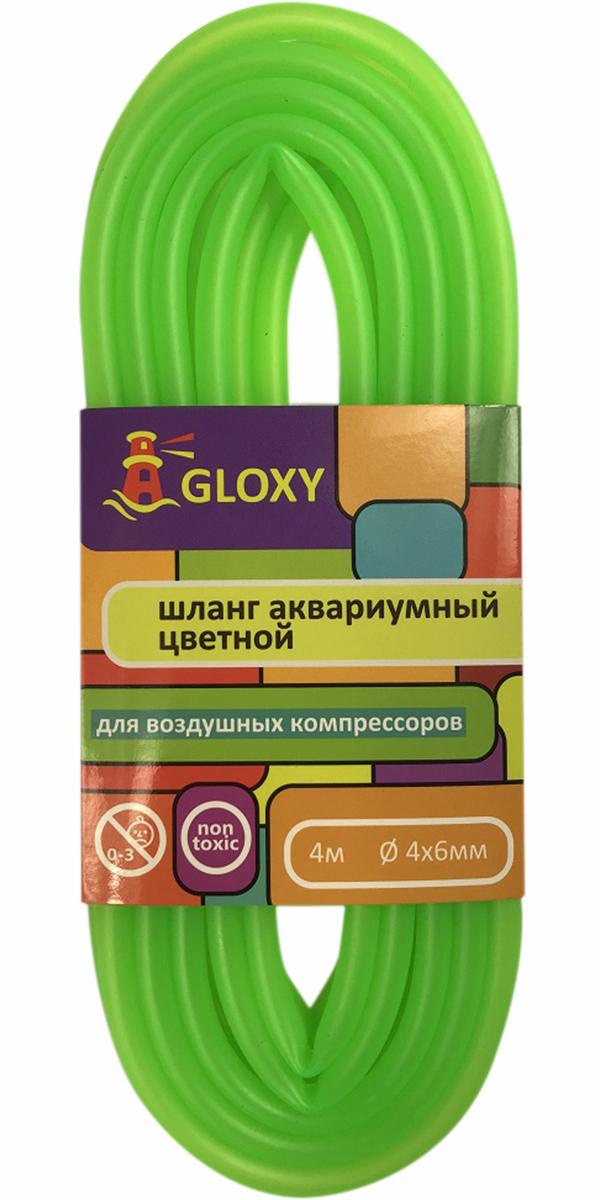 цена на Шланг для подачи воздуха в аквариум зеленый 4/6 мм х 4 м Gloxy (1 шт)