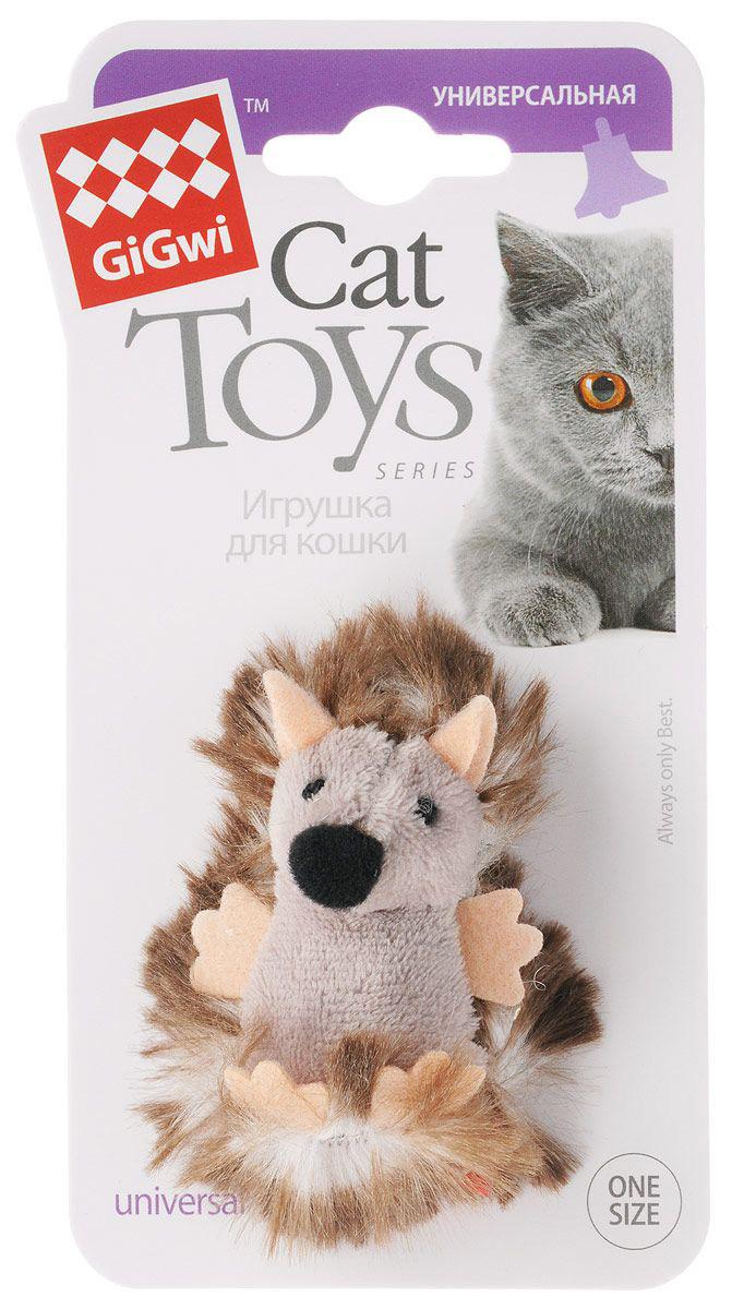 Игрушка для кошек GiGwi Ежик с погремушкой 7 см (1 шт)
