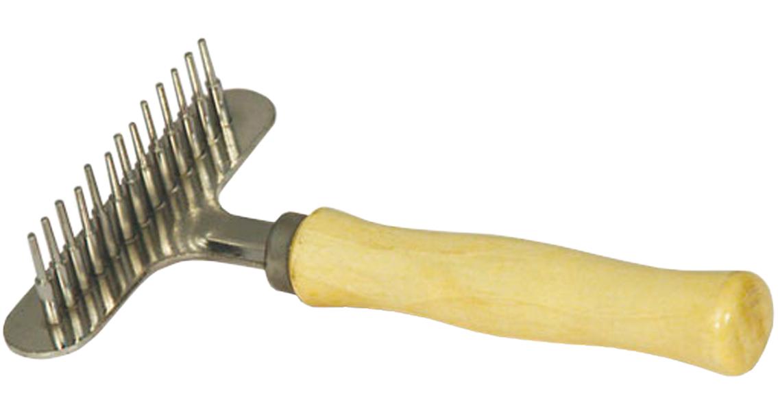 Расческа-грабли Triol 314m Классика с деревянной ручкой 13 зубцов (1 шт)