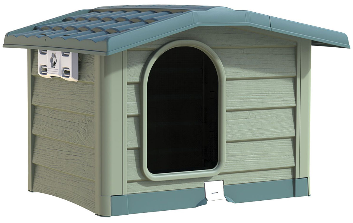 Будка для собак Bama Pet Bungalow M зеленый пластик 89 х 75 х 62 см (1 шт)