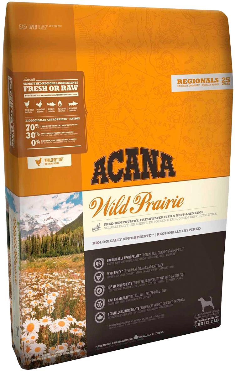Acana Regionals Wild Prairie Dog беззерновой для собак и щенков всех пород с курицей (2 + 2 кг)